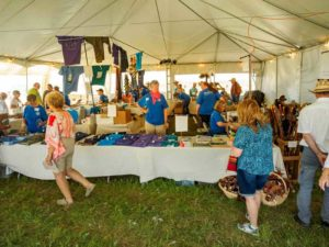 Signature Event merchandise tent